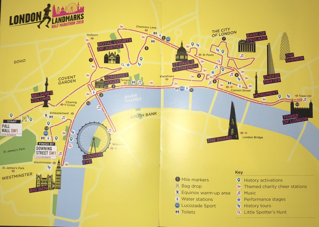 Race Route inside the race guide booklet